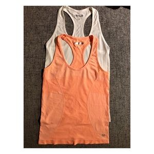 Forever21 set of 2 athletic tank tops orange white